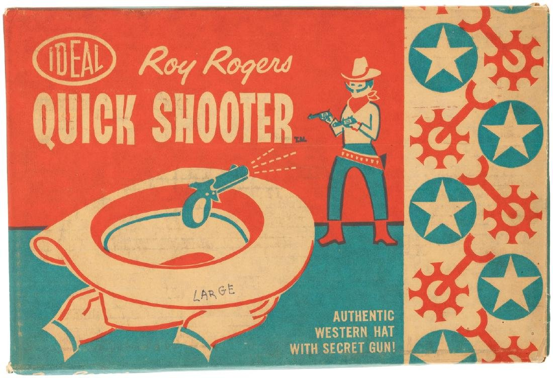 """ROY ROGERS QUICK SHOOTER AUTHENTIC WESTERN HAT WITH"