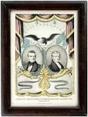 POLK & DALLAS 1844 DEMOCRATIC PARTY GRAND NATIONAL