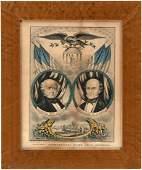 VAN BUREN AND ADAMS 1848 JUGATE FREE SOIL GRAND