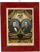 DOUGLAS AND JOHNSON 1860 JUGATE GRAND NATIONAL BANNER