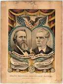HAYES AND WHEELER 1876 JUGATE GRAND NATIONAL BANNER BY