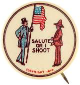 RARE WILSON AND US MEXICO SALUTE OR I SHOOT 1914