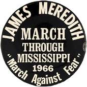 JAMES MEREDITH MARCH AGAINST FEAR HISTORIC CIVIL RIGHTS