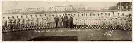 1927 EASTERN COLORED LEAGUE OPENING DAY PANORAMA