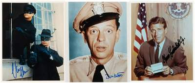 TV ACTORS SIGNED PHOTO LOT WITH VAN JOHNSON, DON KNOTTS
