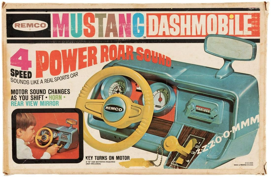 "REMCO ""MUSTANG DASHMOBILE"" BOXED BATTERY-OPERATED TOY."