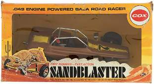 COX SANDBLASTER BOXED GAS ENGINE TOY