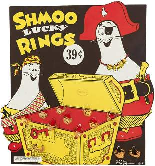 """""""SHMOO LUCKY RINGS"""" FULL STORE DISPLAY."""