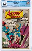 """""""ACTION COMICS"""" #252 MAY 1959 CGC 4.0 VG (FIRST"""
