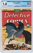 """""""DETECTIVE COMICS"""" #33 NOVEMBER 1939 CGC 1.0 FAIR"""
