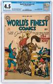 """WORLD'S FINEST COMICS"" #42 SEPTEMBER-OCTOBER 1949 CGC"