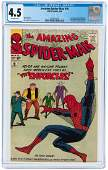 """THE AMAZING SPIDER-MAN"" #10 MARCH 1964 CGC 4.5 VG+."