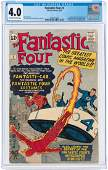 """""""FANTASTIC FOUR"""" #3 MARCH 1962 CGC 4.0 VG (FIRST"""