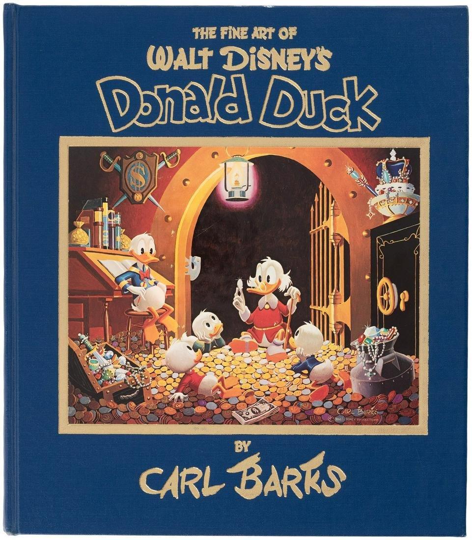 "CARL BARKS SIGNED ""THE FINE ART OF WALT DISNEY'S DONALD"
