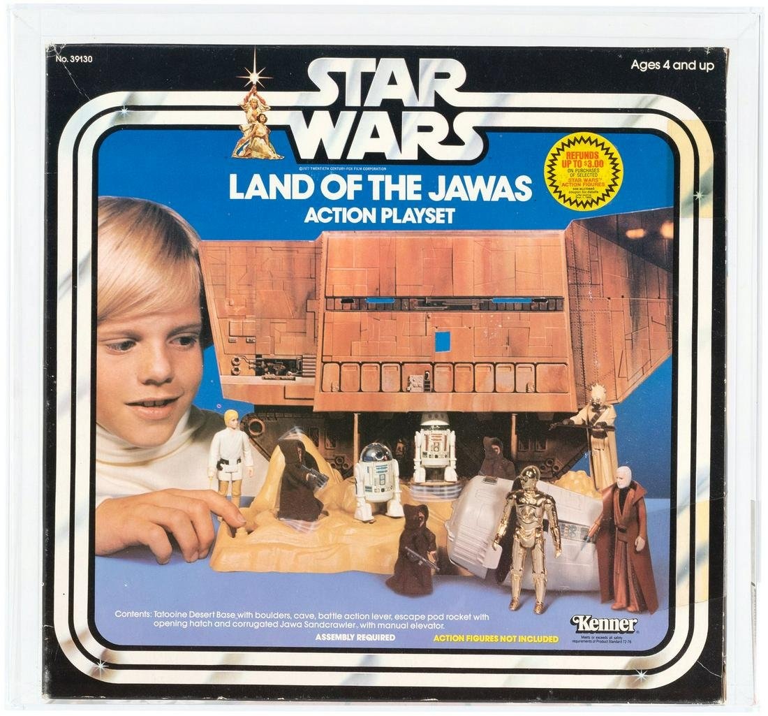 """""""STAR WARS - THE LAND OF THE JAWAS ACTION PLAYSET"""" AFA"""