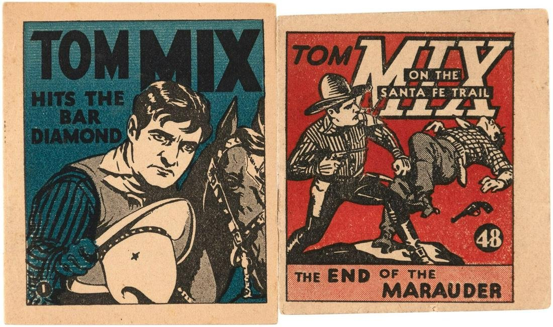 """""""TOM MIX"""" NATIONAL CHICLE CO. GUM BOOKLETS COMPLETE SET"""