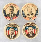 ROOSEVELT  PARKER QUARTET OF 1904 PATRIOTIC PORTRAIT