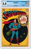 """SUPERMAN"" #53 JULY-AUGUST 1948 CGC 5.0 VG/FINE."