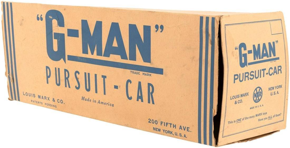 """""""G-MAN PURSUIT CAR"""" MARX BOXED WIND-UP."""