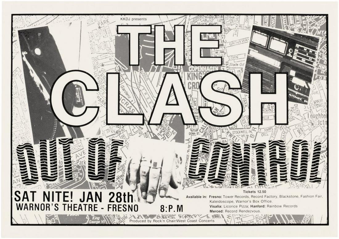 """THE CLASH """"OUT OF CONTROL"""" 1984 FRESNO, CA CONCERT"""
