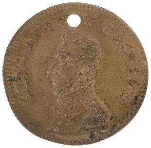 HIGH GRADE ANDREW JACKSON MEDAL FROM HIS FIRST 1824