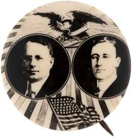 COX & ROOSEVELT 1920 DEMOCRATIC CAMPAIGN 'EAGLE & RAYS'