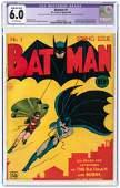 """BATMAN"" #1 SPRING 1940 CGC RESTORED 6.0 MOD./EXT."
