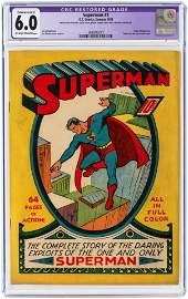 """SUPERMAN"" #1 SUMMER 1939 CGC RESTORED 6.0 EXTENSIVE"