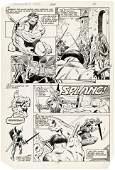 """""""INCREDIBLE HULK"""" VOL. 1 #302 COMIC BOOK PAGE ORIGINAL"""