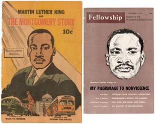 MARTIN LUTHER KING EARLY COMIC BOOK & MAGAZINE AMONG