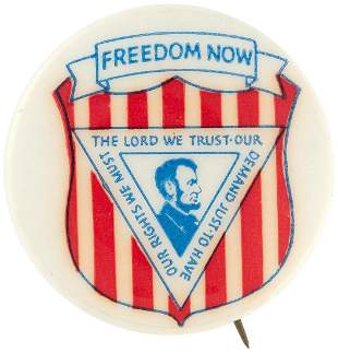 """""""FREEDOM NOW"""" SCARCE LINCOLN PORTRAIT CIVIL RIGHTS"""