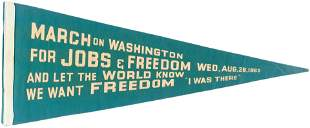 """MARTIN LUTHER KING """"MARCH ON WASHINGTON FOR JOBS &"""