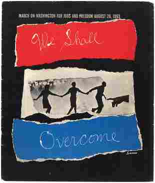 """NATIONAL URBAN LEAGUE CIVIL RIGHTS """"WE SHALL OVERCOME"""""""