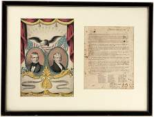 POLK & DALLAS GRAND NATIONAL BANNER AND 1844 ELECTION