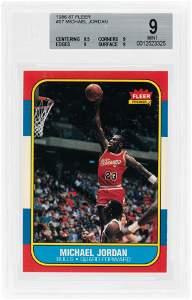 1986-87 FLEER BASKETBALL #57 MICHAEL JORDAN (HOF)