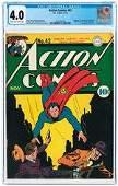 ACTION COMICS #42 NOVEMBER 1941 CGC 4.0 VG (FIRST