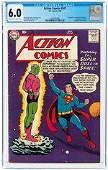 ACTION COMICS #242 JULY 1958 CGC 6.0 FINE (FIRST