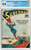 SUPERMAN #7 NOVEMBER-DECEMBER 1940 CGC CONSERVED 4.0 VG