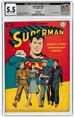 SUPERMAN #29 CGC 5.5 FINE- COOKEVILLE PEDIGREE.