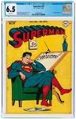 SUPERMAN #41 JULY-AUGUST 1946 CGC 6.5 FINE+.