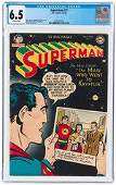 SUPERMAN #77 JULY-AUGUST 1952 CGC 6.5 FINE+.