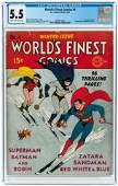WORLD'S FINEST COMICS #4 WINTER 1941 CGC 5.5 FINE-.