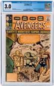 AVENGERS #1 SEPTEMBER 1963 CGC 3.0 GOOD/VG (FIRST