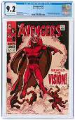 AVENGERS #57 OCTOBER 1968 CGC 9.2 NM- (FIRST VISION).