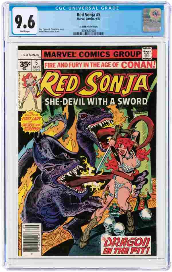 RED SONJA #5 SEPTEMBER 1977 CGC 9.6 NM+ (35 CENT
