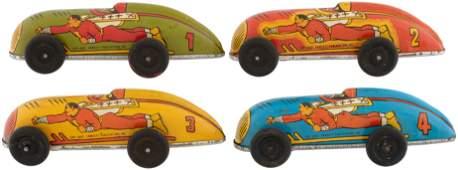 "CAPTAIN MARVEL ""LIGHTNING"" RACING CARS WIND-UP RACERS"