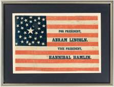 FOR PRESIDENT ABRAM LINCOLN PRIZED 1860 CAMPAIGN PARADE