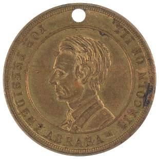 """LINCOLN PRESIDENT'S HOUSE"""" MEDAL DeWITT 1860-61 IN"""