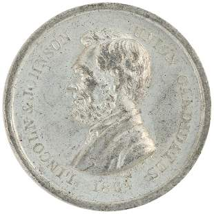 """LINCOLN """"FREEDOM TO ALL MEN"""" MEDAL DeWITT 1864-5."""