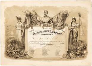 GRANT & COLFAX 1869 INAUGURAL BALL INVITATION.